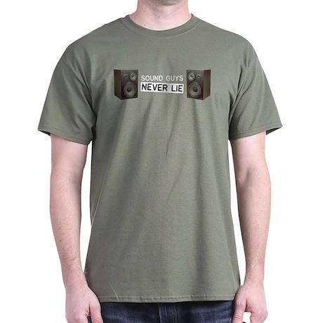 Sound Guys Never Lie Dark T-Shirt