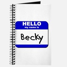 hello my name is becky Journal