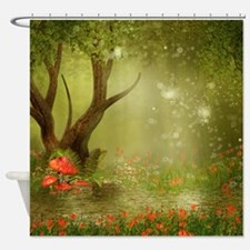 Enchanted Summer Pond Shower Curtain