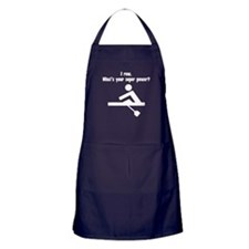 I Row. Whats Your Super Power? Apron (dark)