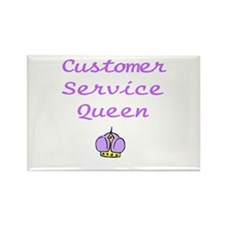 Customer Service Queen Rectangle Magnet (10 pack)