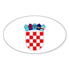 Split, Croatia Oval Decal