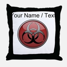Custom Biohazard Symbol Throw Pillow
