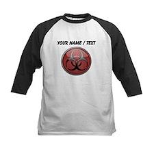 Custom Biohazard Symbol Baseball Jersey