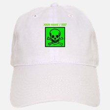 Custom Green Skull Sign Baseball Baseball Cap