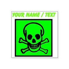 Custom Green Skull Sign Sticker