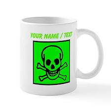 Custom Green Skull Sign Mugs