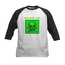 Custom Green Skull Sign Baseball Jersey