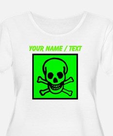Custom Green Skull Sign Plus Size T-Shirt