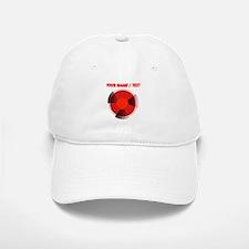 Custom Red Radioactivity Baseball Baseball Cap