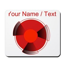 Custom Red Radioactivity Mousepad
