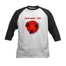 Custom Red Radioactivity Baseball Jersey