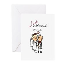 Just Married 35 years ago Greeting Cards (Package