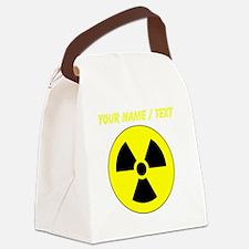 Custom Yellow Round Radioactive Canvas Lunch Bag