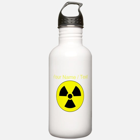 Custom Yellow Round Radioactive Sports Water Bottl