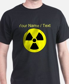 Custom Yellow Round Radioactive T-Shirt