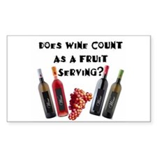 Wine as Fruit2? Rectangle Decal