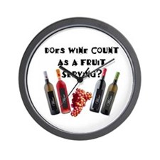 Wine as Fruit2? Wall Clock