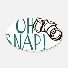 OH SNAP! Oval Car Magnet