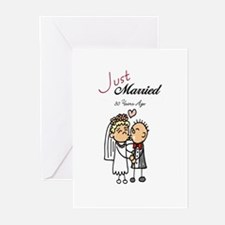 Just Married 30 years ago Greeting Cards (Package