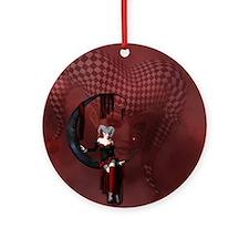 Joker Round Ornament