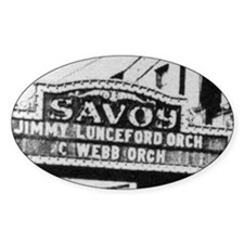 Savoy Marquee Oval Decal