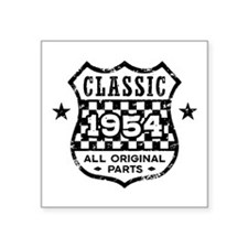 "Classic 1954 Square Sticker 3"" x 3"""