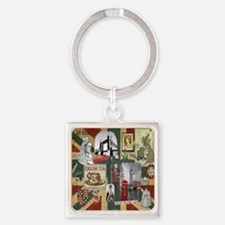 Anglophiles Delight Square Keychain