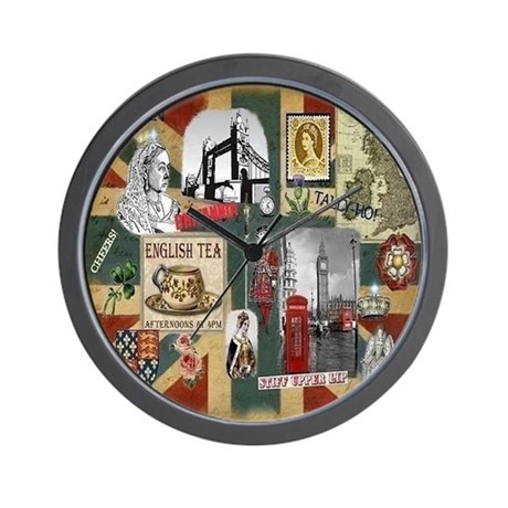 Anglophiles Delight Wall Clock