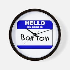 hello my name is barton  Wall Clock