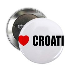 I Love Croatia Button