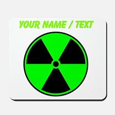 Custom Green Radioactive Symbol Mousepad
