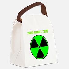 Custom Green Radioactive Symbol Canvas Lunch Bag