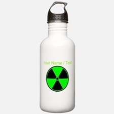 Custom Green Radioactive Symbol Sports Water Bottl