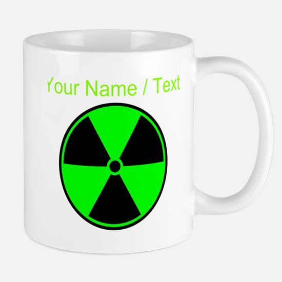 Custom Green Radioactive Symbol Mugs