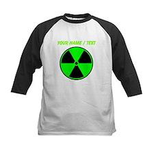Custom Green Radioactive Symbol Baseball Jersey