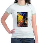 Cafe & Black Lab Jr. Ringer T-Shirt