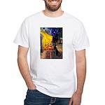 Cafe & Black Lab White T-Shirt