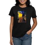 Cafe & Black Lab Women's Dark T-Shirt