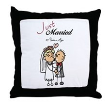 Just Married 10 years ago Throw Pillow