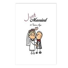 Just Married 10 years ago Postcards (Package of 8)