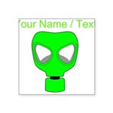 Gas mask green Bumper Stickers