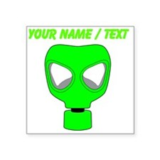 Custom Neon Green Gas Mask Sticker