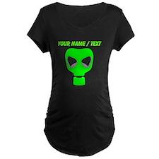 Custom Neon Green Gas Mask Maternity T-Shirt