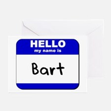 hello my name is bart  Greeting Cards (Package of
