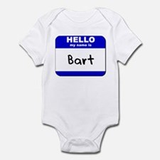 hello my name is bart  Infant Bodysuit