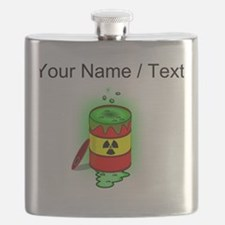 Custom Toxic Spill Barrel Flask