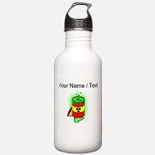 Custom Toxic Spill Barrel Sports Water Bottle