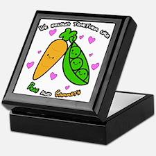 Peas and Carrots Keepsake Box
