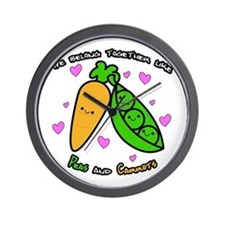 Peas and Carrots Wall Clock